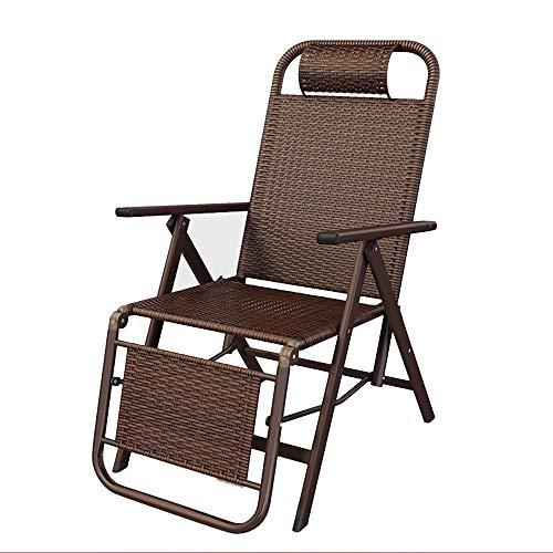 Tumbonas ZR- Sillas Plegables De Gravedad Cero Patio Ajustable Sillón Reclinable con Cojín Playa Portátil Al Aire Libre, Soporta 380 Lbs. (Color : Chair)