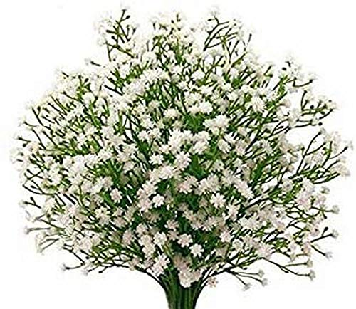 AOLIAY 12pcs Gypsophila Plant Artificial Silk Flower Simulation Bouquet With Breath Of Baby Breath Flower Suitable For Garland Bracelet Wedding Bridal Party Home Garden Decoration