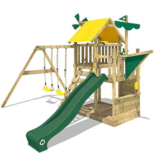 WICKEY Spielturm Smart Aviator Kletterturm Spielplatz großem Sandkasten, Schaukel und Rutsche