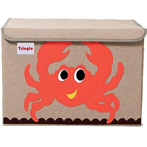TsingLe - Cajas de almacenamiento para juguetes con tapa, tamaño grande, para guardar juguetes, libros, ropa de cama, 36 x 52 x 35 cm, 65 L: Amazon.es: Bricolaje y herramientas