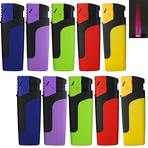 Bulentini Bulentini Sturmfeuerzeug MOSA Turbo Feuerzeug 5 Farben Jet Flame Torch Gas Lighter (1x (5 Feuerzeuge)) 1x Alle Farben (5 Feuerzeuge)