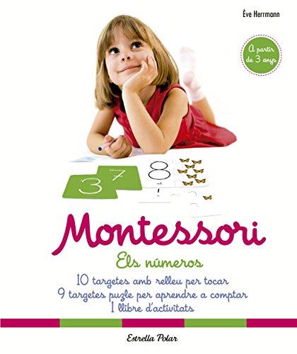Montessori. Els números: 10 targetes amb relleu per tocar. 9 targetes puzle per aprendre a comptar. 1 llibre d
