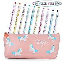 La trousse à crayons Licorne peut contenir vos petites choses telles que des stylos gel, des crayons, des marqueurs, des gommes à effacer, des ciseaux et d'autres articles de papeterie.Elle convient parfaitement à une utilisation quotidienne au burea...