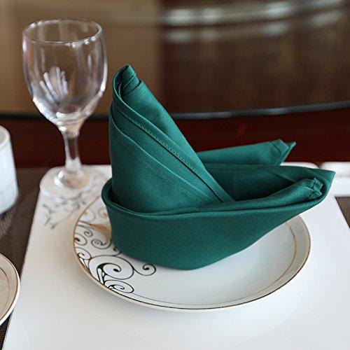 ZHFC le coton serviette hôtel restaurant fleur tissu tissu en verre conditionneur home square 50 * 50 cm 1.,vert noirâtre,56 * 56cm