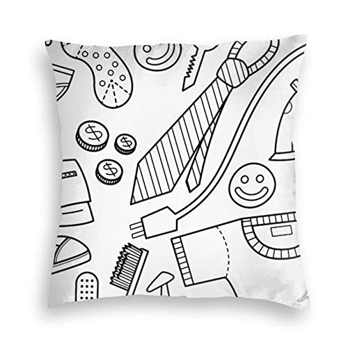 Get Ready (Black and White) Velvet Throw Pillow Cover Cozy Square Throw Pillow Case Home Decor for Bed Couch Sofa Living Room Cushion Cover 18'X18'