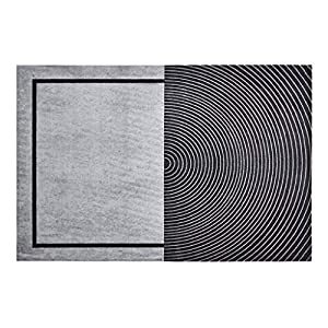 ZJX-F American-Style Luxury Black Carpet, Thick and Soft Skin-Friendly Living Room Bedroom Bed Blanket Family Black and White Lines Sofa Rug