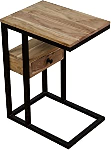 Casa Décor C Table Bedside Portable Table with Drawer for Studying Overbed Breakfast Sofa Table