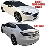 MT. FUJI Windshield Snow Ice Cover I Winshield Snow Cover I Windshield Cover for Ice and Snow for Cars Sedan SUV Van Trucks Minivan Plus Side Mirror Covers. (Front and Rear)