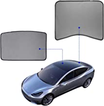 Model 3 Glass Roof Sunshade Sunroof Rear Window Sunshade Compatible for Tesla Model 3 (2 of Set) (top roof+ Rear)