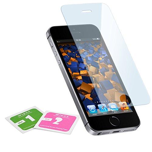 mumbi Hart Glas Folie kompatibel mit iPhone SE (2016) Panzerfolie, iPhone 5S Panzerfolie, Schutzfolie Schutzglas (1x)