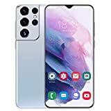 JYSSH Teléfono Móvil 4G, S21+Ultra Smartphone,4GB+ 64GB, Android 10 Octa-Core, 6.7' HD+ IPS Water-Drop Screen Smartphone Barato, 6800mAh, 32MP+50MP, Dual SIM/GPS/Face ID,White-AU