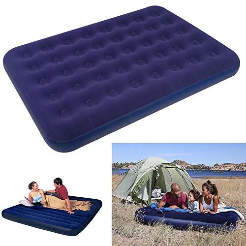 Marannashop® - Colchoneta de Camping Hinchable para Playa, colchón Flocado de PVC y Terciopelo Impermeable Individual o matrimonial 795
