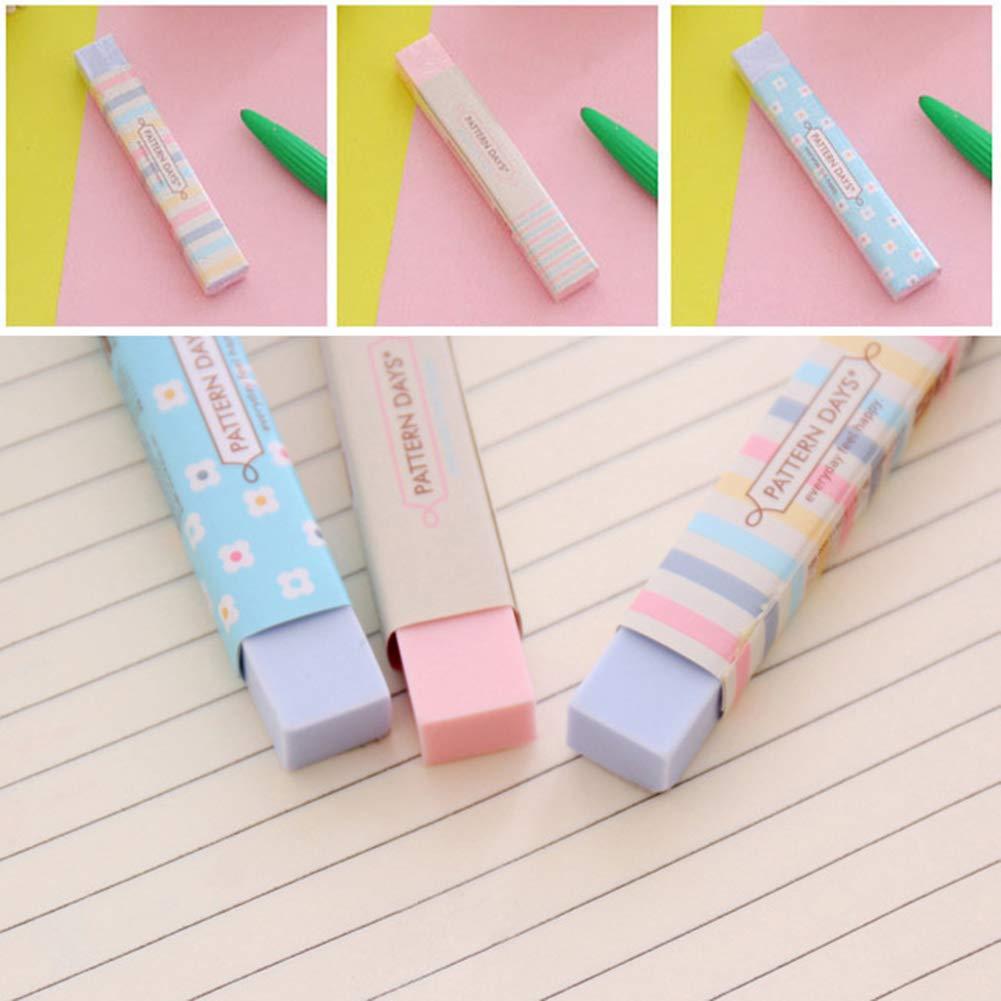 XQxiqi689sy 2 gomas de borrar de dibujos animados Kawaii de colores para estudiantes, suministros escolares, suministros escolares, color Random Color talla única: Amazon.es: Oficina y papelería