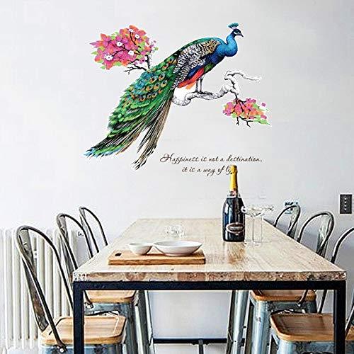 Wandaufkleber Diy Chinesischen Stil Pfau Tv Hintergrund Wanddekoration Abnehmbare Wand Aufkleber Aufkleber Muraux Wand-dekor