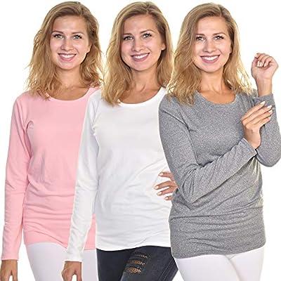 Angelina Women's Fleece Lined Long Sleeve Thermal Top, T7915_D_S