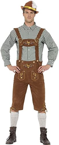 Smiffys Herren Kostüm Bayern Tracht Trachtenhose Karneval Oktoberfest Gr.M