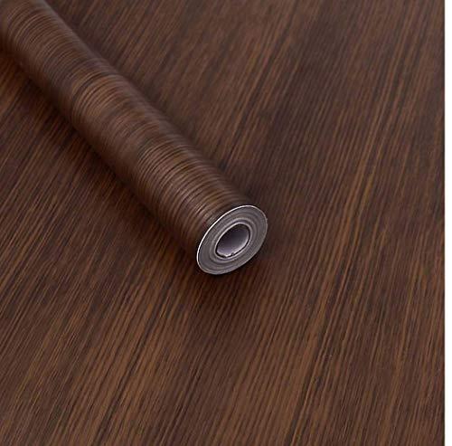 Grano de madera oscura Papel de contacto Decorativo Madera de nogal Look Autoadhesivo Estante Liner Gabinetes de cocina Estantes Etiqueta de la puerta 45 x 200cm