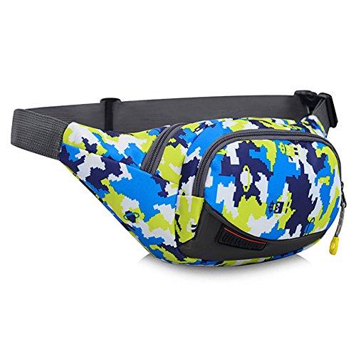 Cintura Pack Hombres Mujeres Deportes Gran capacidad Cash Register Recoger Bolsillos de dinero Multifuncionales Bolsas de viaje al aire libre Impermeable de viaje Riñoneras (Color : C)