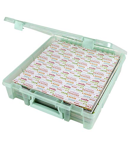 ArtBin - 6955RJ Super Satchel 1-Compartment Box Art & Craft Organizer 1-Pack Translucent Mint, 1 Pack