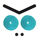 Alien Pros Bike Handlebar Tape EVA (Set of 2) Bianchi Green - Enhance Your Bike Grip with These Bicycle Handle bar Tape - Wrap Your Bike for an Awesome Comfortable Ride (Set of 2, Green)