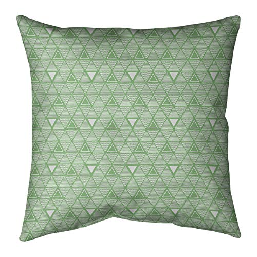 Review Of ArtVerse Patricia Geoffrey Classic Hand Drawn Triangles Pillow (w/Removable Insert) - Cott...