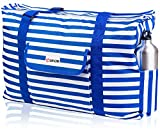 Beach and Pool Bag XL - Waterproof (IP64) - L22 xH15 xW6 - Thermo Pocket - Four Outside Pockets - Top Zip - Gadget Case - Key Holder - Bottle Opener
