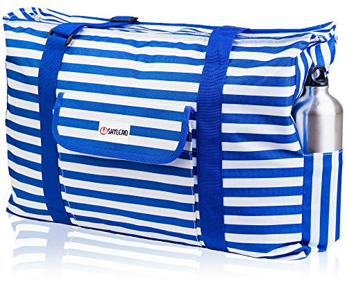Beach and Pool Bag XL - Waterproof (IP64) - L22 xH15 xW6 - Thermal Pocket - Four Outside Pockets -...