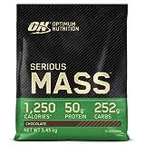 Optimum Nutrition ON Serious Mass Proteina en Polvo Mass Gainer Alto en Proteína, con Vitaminas, Creatina y Glutamina, Chocolate, 16 Porciones, 5.45 kg, Embalaje Puede Variar