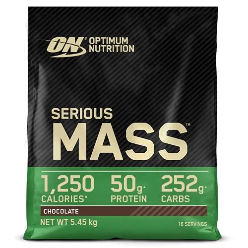 Optimum Nutrition Serious Mass Proteina en Polvo, Mass Gainer Alto en Proteína, con Vitaminas,...
