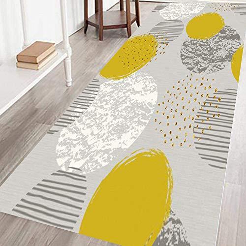 Tappeto Passatoia 80x400cm, Tappeto corridoio passatoia, Superficie Morbida Passatoia Cucina Adatto per Cucina e Bagno - R-4