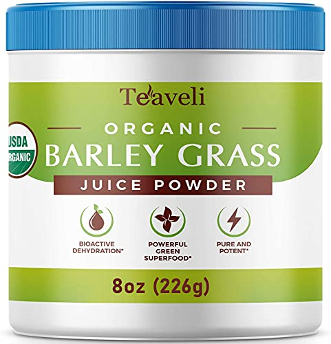 Organic Barley Grass Juice Powder Extract–for Your Green & Detox Smoothies– Easy to Dissolve...