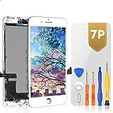 Bokman LCD Pantalla para iPhone 7 Plus, Táctil LCD Reemplazo con Herramientas de Reparación(Blanco)