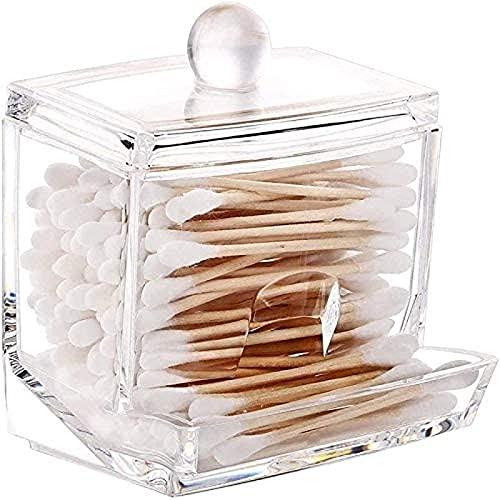 Mlcjva Soporte Distribuidor Caja de algodón Caja de algodón Caja de tocador Pequeñas Necesidades diarias plástico Transparente Cubierta de contenedor de Mesa cosmética