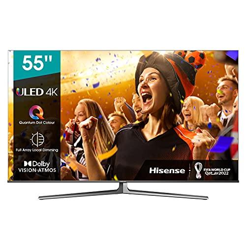 Hisense 55U81GQ ULED 139cm (55 Zoll) Fernseher (4K ULED HDR Smart TV, Quantum Dot, Ultra Premium HD, HDR10+, Dolby Vision & Atmos, USB-Recording, Alexa Built-in, Google Assistant) 2021