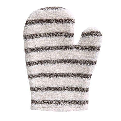 2 pièces épaissir double face Linen Mitaines de bain gants exfoliants Scrubber