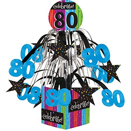Bright And Cheerful 80th Birthday Party Supplies Add A Brilliant Splash Of Color To The Big Day Find Matching Napkins Plates Confetti At Amazon