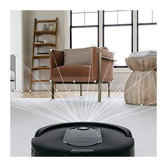 Shark IQ RV1001, Wi-Fi Connected, Home Mapping Robot Vacuum, Without Auto-Empty dock, Black 2 Unbeatable suction vs. any Shark robot vacuum for pickup of large and small debris, as well as pet hair on carpets and hard-floors. Self-cleaning brushroll removes pet hair and long hair from the brushroll as it cleans--no more hair wrap. Schedule whole-home cleanings or target specific rooms or areas to clean right now with the Shark Clean app or voice control with Amazon Alexa or Google Assistant.