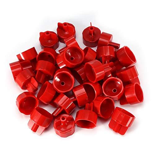 100st plastic clips vloer wandtegels afstandhouders riemtegel plat nivelleersysteem gereedschap voor thuis(DL-F02-rood)