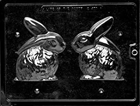 Cybrtrayd Life of the Party E460 3D Bunny Easter Chocolate Candy Mold in Sealed Protective Poly Bag Imprinted with Copyrighted Cybrtrayd Molding Instructions