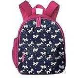 Mochila Infantil niña,Unicorns-01_3965 - Heather_Brockman_Lee, para Las escuelas Infantiles Oxford Cloth (Rosa)