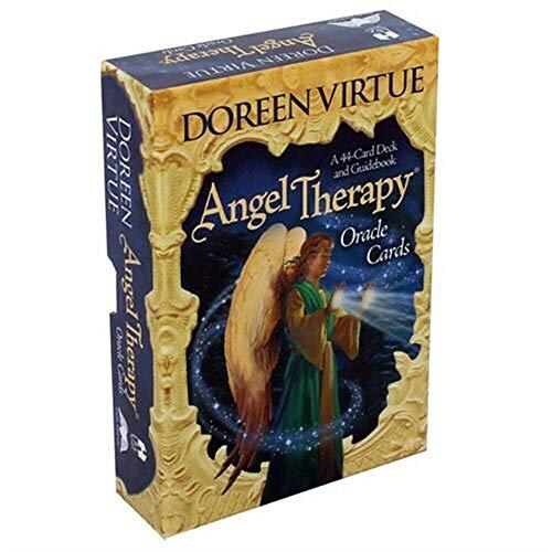 URNOFHW 44pcs Tarot-Karten Deck Spiel Deutsche Version Engel Therapy Oracle Tarot for Spaßspiel-Spielkarte Tischspiele Unterhaltung (Color : Angel Therapy Oracle)
