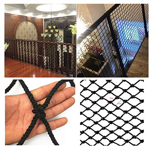 Learn More About Protective Net Black Nylon Rope Net, Garden Decoration Net Balcony Safety Net Stair...