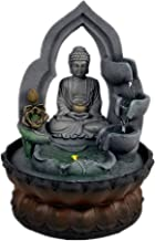 SURPRIZON 11.8in Buddha Tabletop Waterfall Fountain Fengshui Meditation Relaxing Indoor Decoration, Waterfall Kit with Cir...