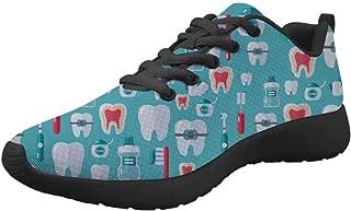 Upetstory Womens Gym Sports Running Fitness Tennis Sneaker Shoes Dental Pattern