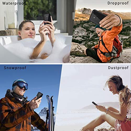 Lanhiem für Huawei Mate 20 Pro Hülle, IP68 Zertifiziert Wasserdicht Handy hülle 360 Grad Schutzhülle, Stoßfest Staubdicht und Schneefest Outdoor Schutz mit Eingebautem Displayschutz - Schwarz - 6