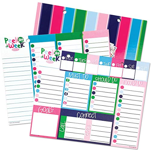 Price comparison product image Peek at The Week Weekly Planner Pad / Checklists,  Priorities,  Dry Erase Backer