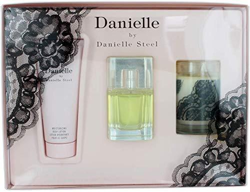Danielle 3Pc Set By Danielle Steel For Women Set: Eau De Parfum + Body Lotion + Candle
