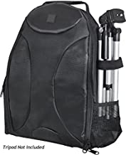 Photography Backpack for: Sony Cyber-Shot DSC-P92 - Tripod Sleeve, Six Inner Dividers, Water & Shock Resistant, Two Side P...