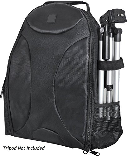 Photography Backpack for: Kodak EasyShare Z1015 is - Tripod Sleeve, Six Inner Dividers, Water & Shock Resistant, Two Side Pockets - Camera Back Pack Case -  ZeeTech, BASESNAP-120716-BPIIKIT806
