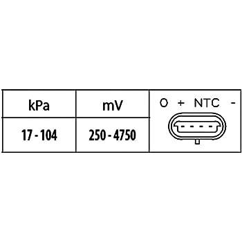 saugrohrdruck Hella 6pp 009 400-381 adecuado para ford Jaguar Sensor 1